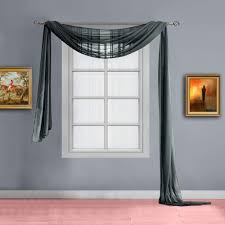 Warm Home Designs Warm Home Designs Standard Length Charcoal Olive Dark Green Mixed With Charcoal Sheer Window Scarf Valance Scarves Are 56 X 144 Inches In Size