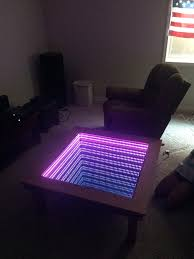 infinity mirror table. it just keeps getting cooler! infinity mirror table n