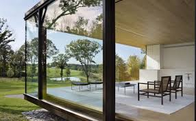 Steel Framed Houses Steel Frame Sustainable Weekend House With All Glass Facade