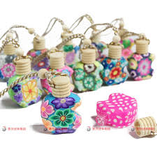 How To Decorate Perfume Bottles 100 Ml Apple Design Car Hang Decoration Ceramic Essence Oil Perfume 20