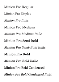 typography brand guide amherst sample of minion pro typefaces