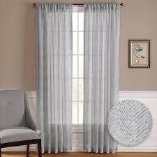 Living Room Window Treatment Aliexpresscom Buy Nicetown One Pair Zig Zag Chevron Pattern