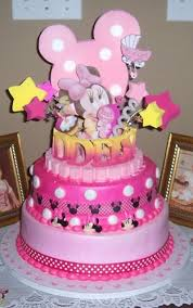 BABY MINNIE MOUSE 1ST BIRTHDAY CAKE TOPPER