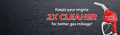 new synergy supreme premium gasoline keeps your engine 2x cleaner