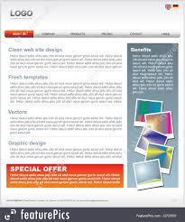 Web 2 0 Design Template Business Graphics Website Template Stock Illustration