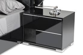 grace italian modern black nightstand