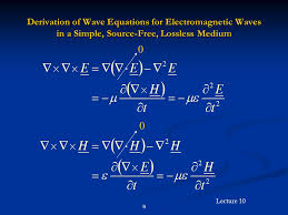 9 derivation of wave equations for electromagnetic