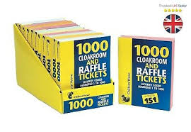 Raffle Ticket Booklets Raffle Cloakroom Tickets 100 Or 200 Books Tombola Draw
