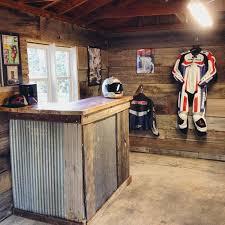 cool custom garage wood wall and bar storage ideas