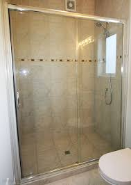 framed glass sliding shower door 2 panel sliding shower