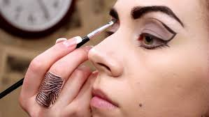 makeup professional makeup applied to models eyes hd stock video clip