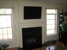 74 most brilliant fireplace surround with tv above can you hang a tv over a gas