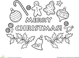 Small Picture Merry Christmas Worksheet Educationcom