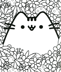Pusheen Coloring Pages Grumpy Cat Coloring Pages On Pusheen Coloring