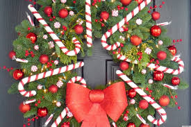 Christmas Decorations With Candy Canes Christmas Craft Idea A Candy Cane Wreath That'll Make Your Door 71