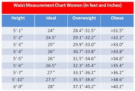 Ideal Waist Size By Height Chart 3 Fat Chicks On A Diet