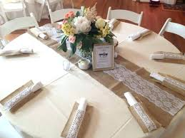 burlap and lace table cloth