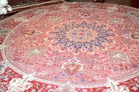 10 10 round persian tabriz authentic hand knotted wool silk area