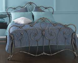 obc athalone 5ft kingsize silver patina metal bed frame by original bedstead company
