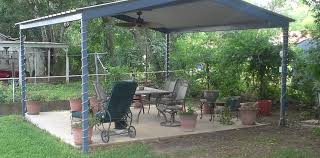 free standing patio covers metal. McQueeny Texas Free Standing Metal Pavillion Patio Covers E