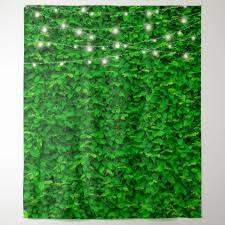 green wall fairy lights party backdrop