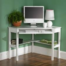 white computer desk for small spaces with lamp corner desks tight spaces