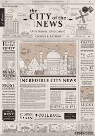 Old Fashioned Newspaper Article Template Design Of Old Vintage Newspaper Template Showing Articles