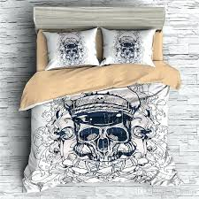 skull bedding king size sets red and black collage crossbones