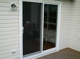 3 panel sliding glass door with blinds designs