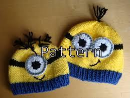 Minion Hat Crochet Pattern Custom Knitting Pattern PDF Minion Hat Pattern Knit And Crochet Minion