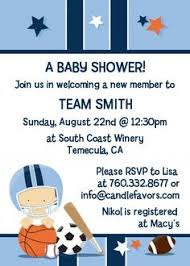 Baby Shower Invitation Awesome Sport Themed Baby Shower Baby Shower Invitations Sports Theme