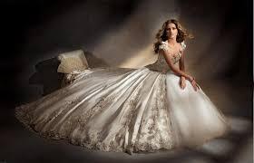 sell champagne lace wedding dress custom a line bridal wedding