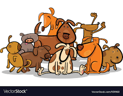 cute dogs royalty free vector image