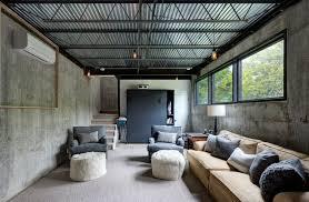 concrete walls in interior design