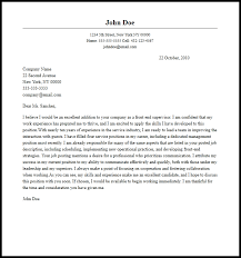 Best Way To End A Cover Letter Supervisor Cover Letter Professional Front End Supervisor