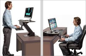 desk workstation used standing desk standing computer station stand up desk platform adjule computer workstation