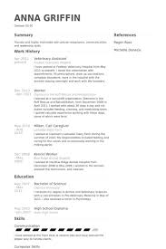 Veterinary Technician Resume Sample 10 Examples Templates Assistant
