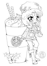 Like Starbucks Only Not Basteln Chibi Coloring Pages Coloring