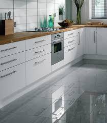 high gloss grey kitchen floor tiles
