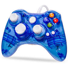 luxmo afterglow usb wired controller gamepad for microsoft xbox 360 console pc win 7 8 10 blue walmart