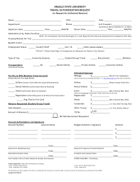 Business Travel Authorization Form Sample | Yoktravels.com