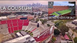 Coliseum Renovation Seating Chart La Coliseum Renovation The Worst Obstructed Rams Seating Views You Can Buy