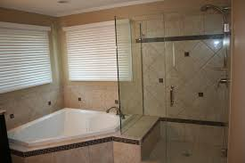 bathroom of your house look interesting with frameless shower doors corner white bath tub with