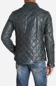 Scotch & soda Quilted Leather Jacket in Green for Men | Lyst & Gallery Adamdwight.com