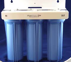Big Water Filter Systems 45 X 10 Big Blue Three Stage Water Filtration System 3 4