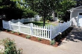 Successful Yard Fences Picket Vinyl Fence Front White Fencing