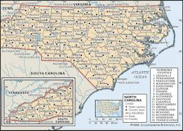 state and county maps of north carolina