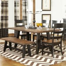 Indoor Picnic Style Dining Table Round Dining Table With Bench Seating Rustic Dining Tables With