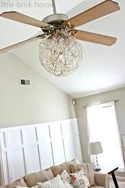 crystal chandelier ceiling fan combo chandelier ceiling fan combo little brick house ceiling fan makeover diy ceiling fan chandelier combo