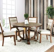 oak round dining table 5 piece rustic oak round table set rt weathered table with 4